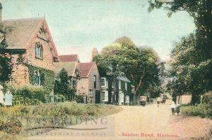 Seaton Road from west, Hornsea  1900s