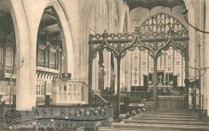 St Nicholas Church interior – chancel from south west, Hornsea 1900s