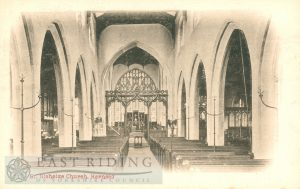 St Nicholas Church interior – nave from west, Hornsea 1900s