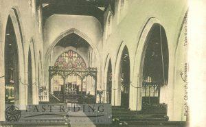 St Nicholas Church interior from west, Hornsea 1900s