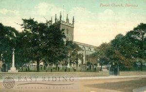 St Nicholas Church from south west, Hornsea 1915