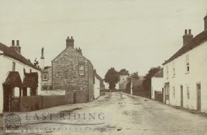 village street from south, Hotham 1900
