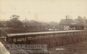Hull and Barnsley railway station from north, Howden  1904