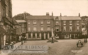 Market Place and Cross from north, Howden  1914