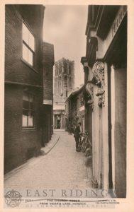 Minster from Vicar Lane, Howden  1920