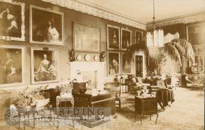 Howsham Hall, entrance hall, Howsham 1900
