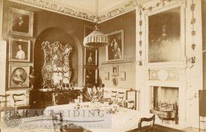 Howsham Hall, dining room, Howsham 1900