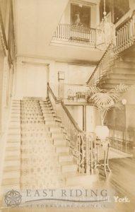 Howsham Hall, staircase, Howsham 1900