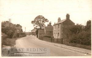 Village street, Barmby Moor 1937
