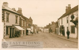 Bridlington Street from north west, Hunmanby 1922
