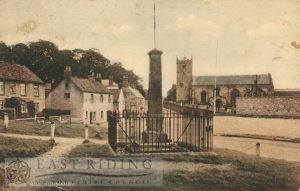 Cross Hill and All Saints Church from south, Hunmanby 1930