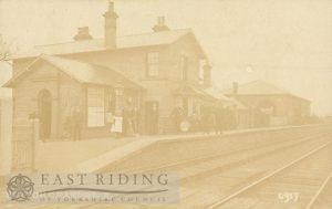 Railway Station from south east, Hutton Cranswick 1900