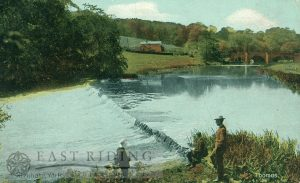 weir and bridge from south east, Kirkham Abbey 1907
