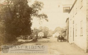 Front Street from south east, the Rockingham on the right, Lockington 1900