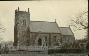 St Margaret's Church from south west, Long Riston 1900