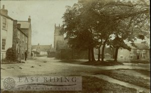 the Green and All Saints Church from south, Lund 1906