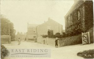 village street near Hotham House, Lund 1900