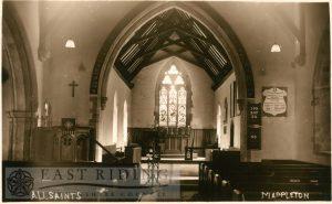 All Saints Church chancel from west, Mappleton 1900