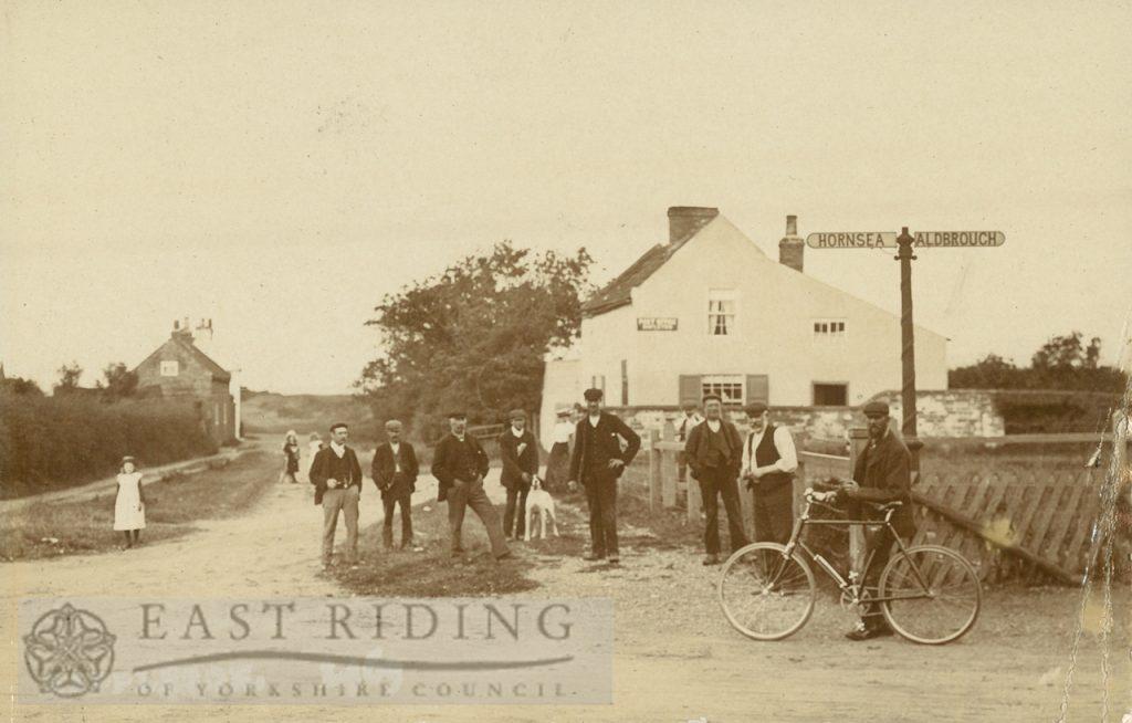 Hornsea – Aldborough road corner from west, Mappleton 1900