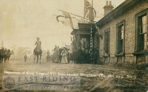 Railway Station – departure of Edward VII, Market Weighton 2128