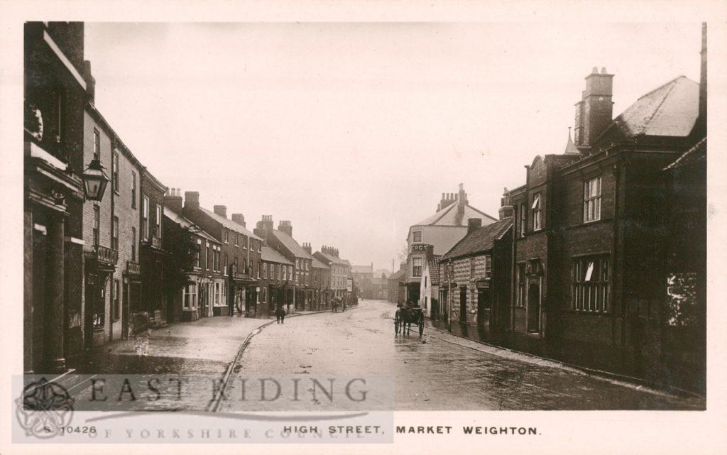 High Street from north west, Market Weighton 1900