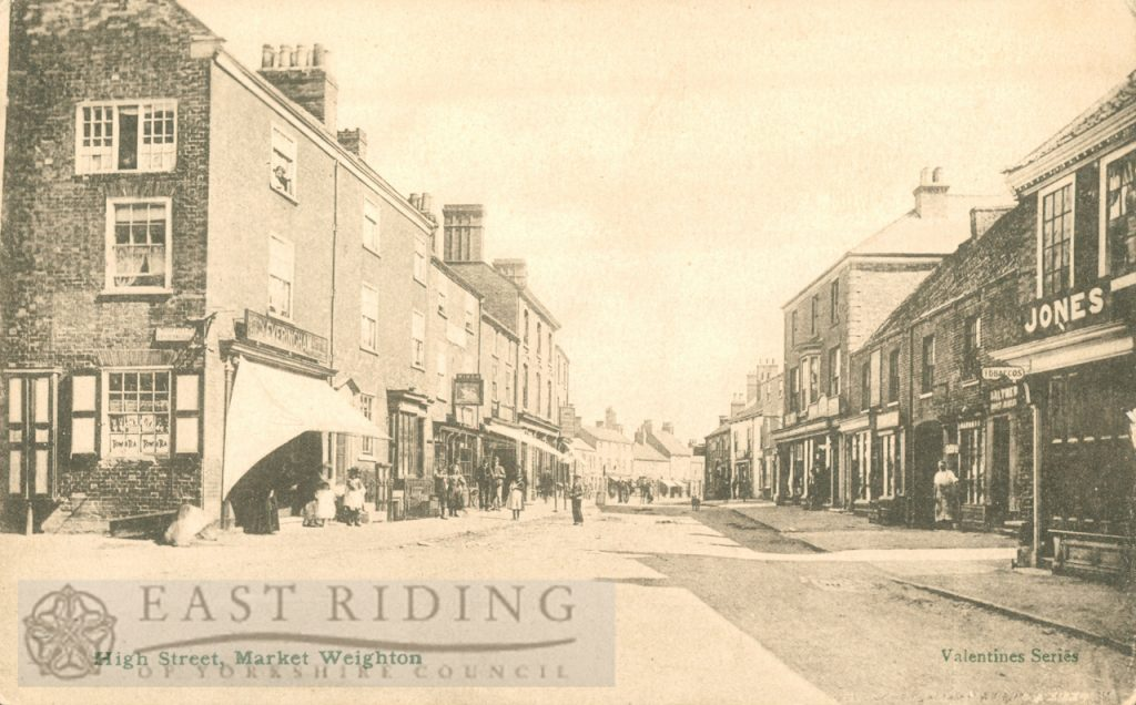 High Street from south east, Market Weighton 1900