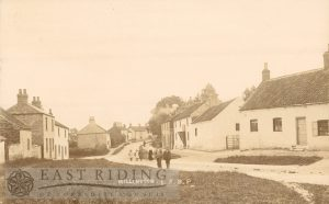 village street from south west, Millington 1900