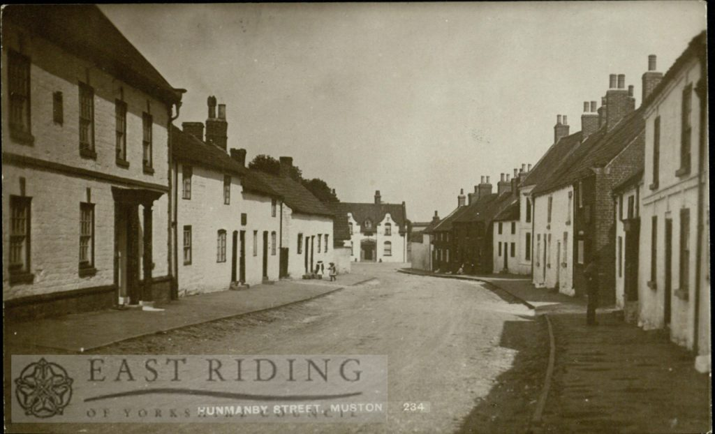 Hunmanby Street from south, Muston 1913