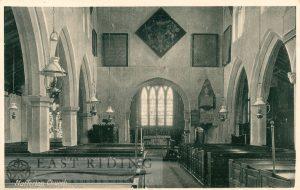 All Saints Church interior from west, Nafferton 1900