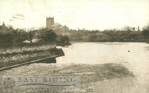 All Saints Church and pond from south east, Nafferton 1904