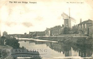 mill and bridge, Newport 1904