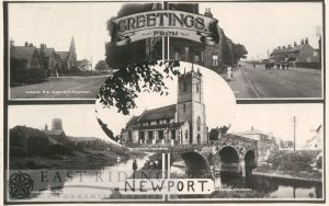 5 small views – West End; Main Street, St Stephen's Church from north west, Canal; Old Bridge, Newport 1927