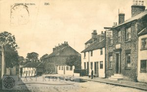 village street near George and Dragon from east, North Dalton  1907
