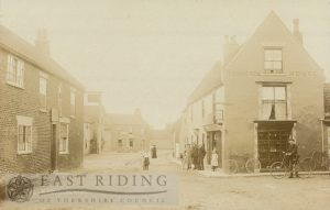Cross and Post Office from east, North Frodingham  1900
