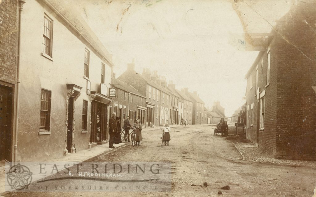 Main Street from west, North Frodingham  1900