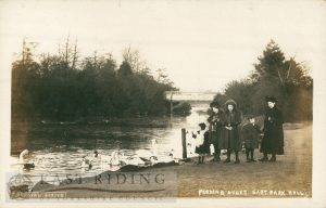 East Park lake and family, Hull 1900s