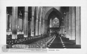 Holy Trinity Church, interior showing nave from west, Hull c.1900s