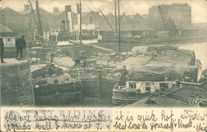 Humber Dock from south, Hull 1904