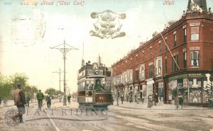Anlaby Road from west, Walton Street junction, Hull 1906