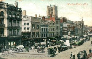 Market Place from south east, Hull 1909