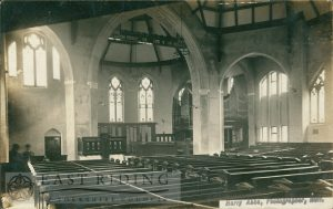 Newland Congregational church, interior looking towards pulpit and organ, Hull 1900s