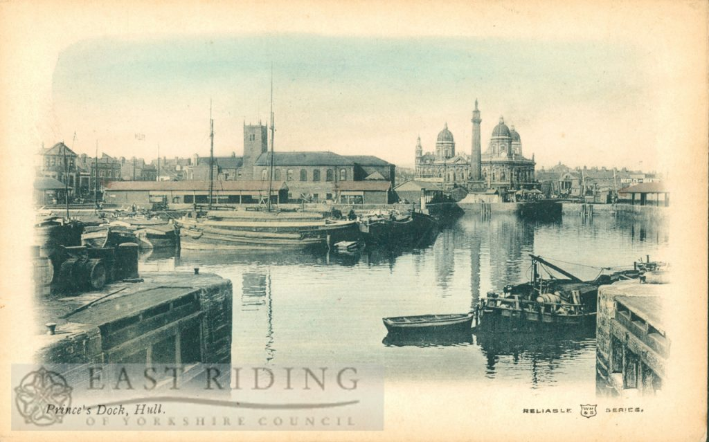 Princes Dock from south, Hull 1900s