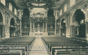 St Charles Church, nave from west, Hull 1900s