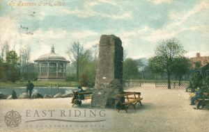 Pearson Park, lake and bandstand, Hull 1903