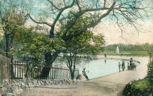 Pearson Park lake, Hull 1906