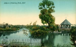 Pickering Park lake, Hull 1920s