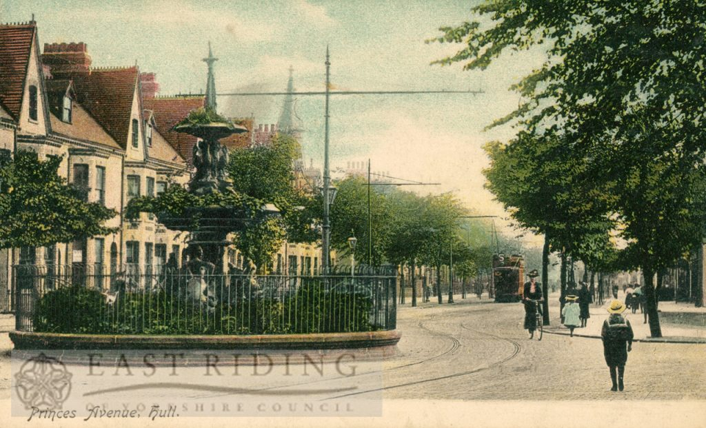 Princess Avenue, north end, from north east, Hull 1900s