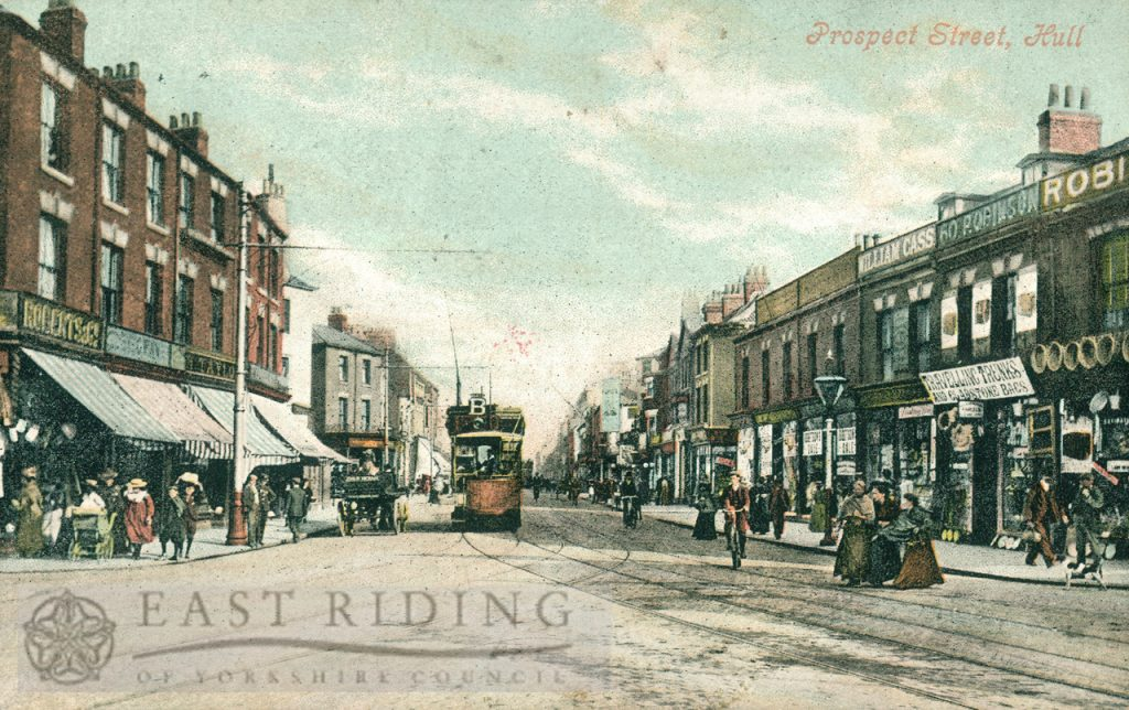 Prospect Street from south south east, Hull 1900s