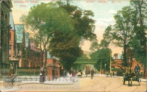 Beverley Road from south, near Queens Road corner, Hull 1908