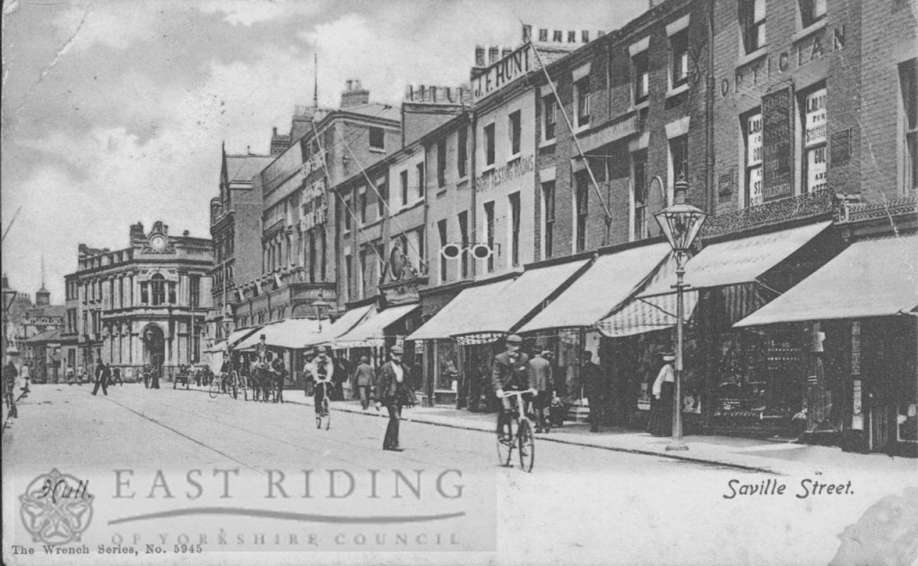 Savile Street, from south west, Hull 1908